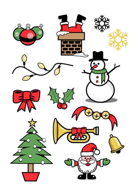 clipart inverno inverno 2 di simboli di festa di natale delle icone