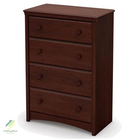 Wood Bedroom Dresser Chest Of Drawers Brown Wood Finish Bedroom Clothes Storage Dresser 4 Drawer Ebay