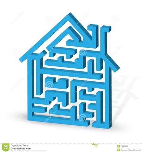 maze house house maze stock photos image 26580553