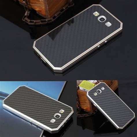 Bumper Samsung Galaxy A3 Aluminium List With Back Limited 1 luxury brand screwless steel metal aluminum bumper frame carbon fiber back cover for