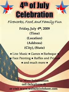 4th of july templates free flyer designs templates printable event and
