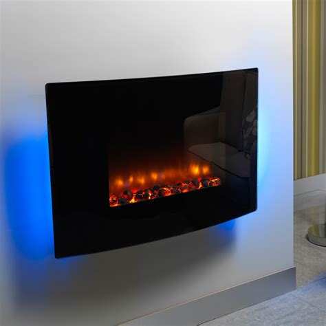 designer electric fireplace modern design be modern orlando curved black wall