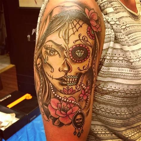 day of the dead tattoo 90 best day of the dead tattoos designs meanings 2019