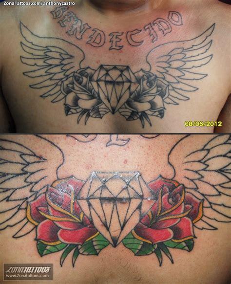 tatuajes de flores tatuaje de anthonycastro diamantes rosas flores tattoo