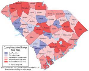 carolina population map south carolina counties ranked by their population growth