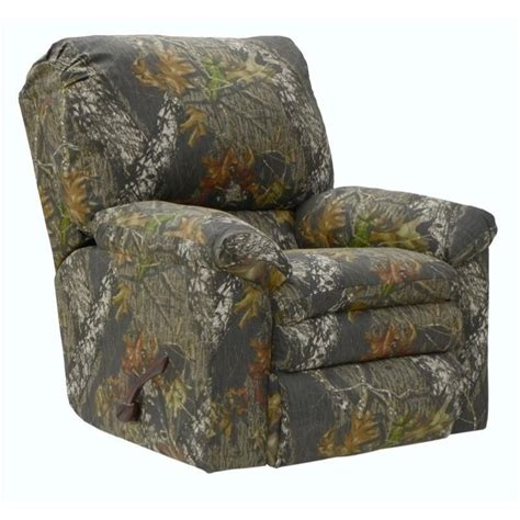 duck dynasty recliner catnapper duck dynasty rocker fabric recliner in moss