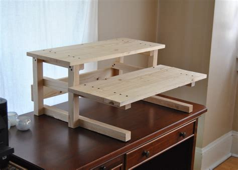 make a standing desk diy project plan two monitor standing computer desk diy