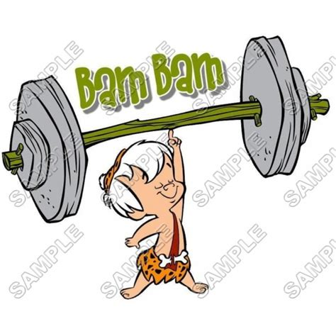 Tshirt S O S Baam personalized iron on transfers the flintstones bam bam t