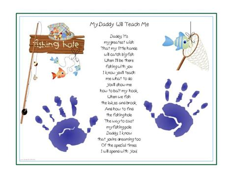 baby s s day poem teach me fishing poem print baby child handprints
