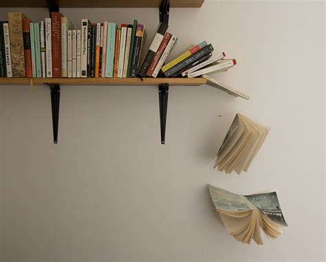 the of falling books installations daniel morris