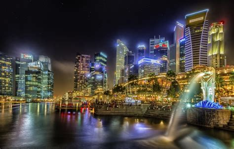 wallpaper building home  evening singapore