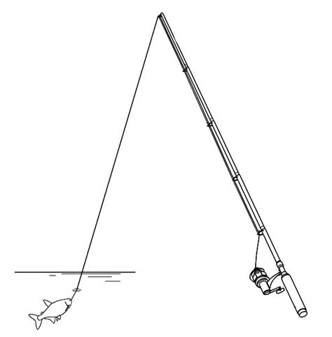 coloring page of fishing pole fishing pole coloring pages sketch coloring page