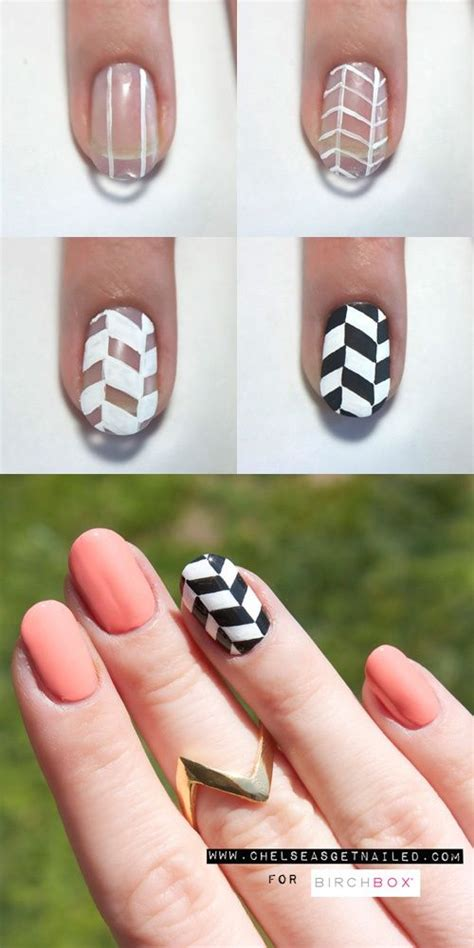 easy nail art chevron how to chevron nails aisha and cyra s guide to beauty