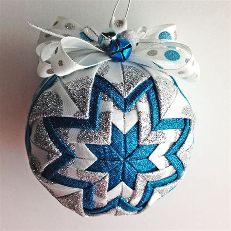 Handmade Ornaments Etsy - frosty handmade quilted ornament by foxonthemoonllc on etsy