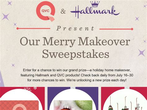 Hallmark Sweepstakes 2016 - the qvc hallmark present our merry makeover sweepstakes sweepstakes fanatics