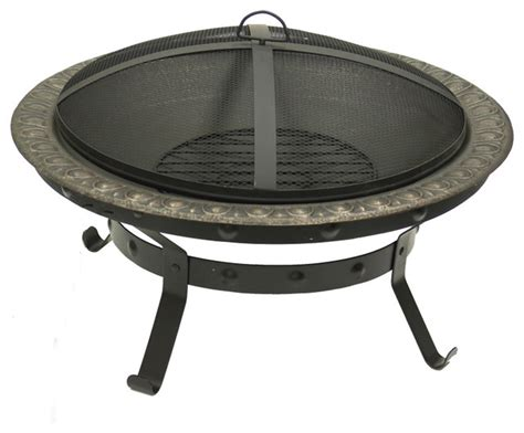 Antique Gold Cast Iron Fire Pit Traditional Fire Pits Cast Iron Firepits