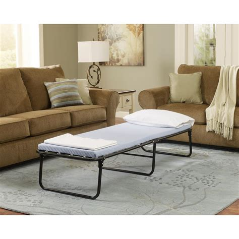 Simmons Bed Frames Simmons Beautysleep Foldaway Cot Single Steel Guest Bed Frame Hdbsfagbs The Home Depot