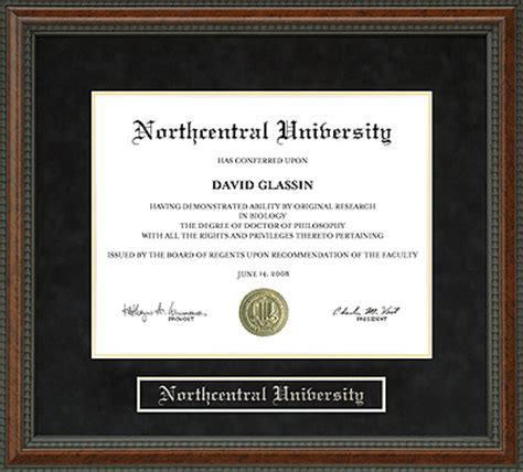 Northcentral Mba by Northcentral Ncu Diploma Frame Everything