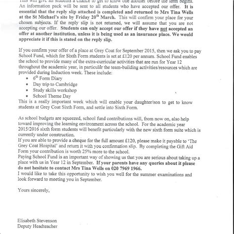School Prefect Application Letter Exles Exclusive Gove And Pm School Made Forbidden Donation Request