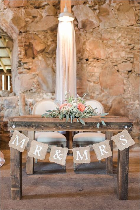 Wedding Ceremony Table by Rustic Sweetheart Table Wedding Ceremony Decor Deer