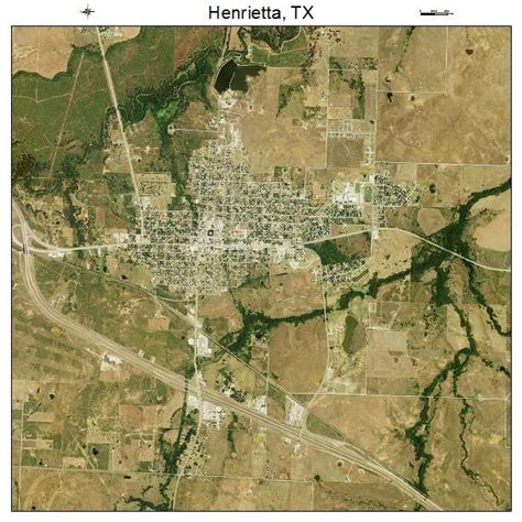 henrietta texas map aerial photography map of henrietta tx texas