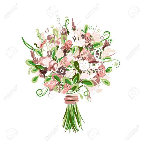 Wedding Bouquet Illustration by Bridal Bouquet Clipart Clipground