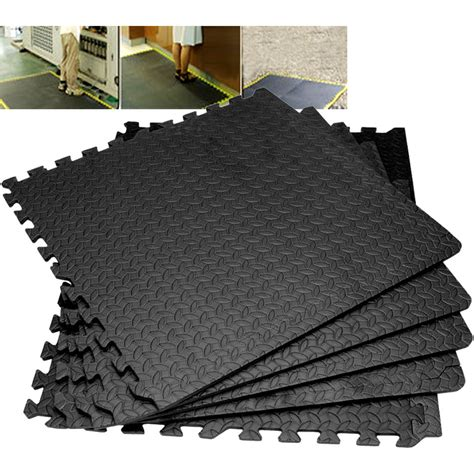 Work Out Floor Mats by Large Interlocking Soft Foam Exercise Floor Mats