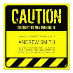 funny caution 18th birthday party invitations sweet 16