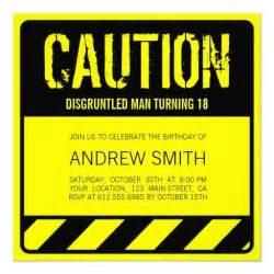 cool 18th birthday cards caution 18th birthday invitations sweet 16