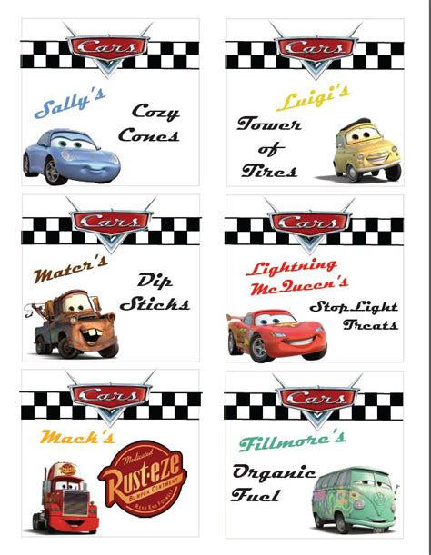 printable cars party decorations disney cars party ideas free printable disneyside