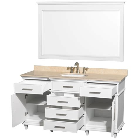 white bathroom vanity cabinet ackley 60 inch white finish single bathroom vanity