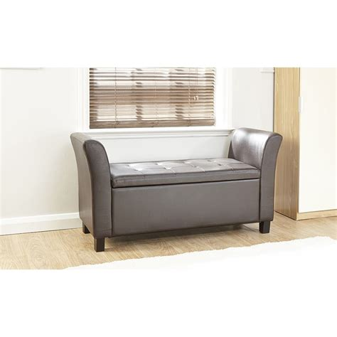 large storage bench seat verona leather window seat ottoman storage box large