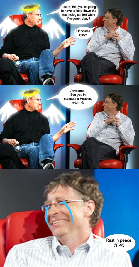 Bill Gates Steve Jobs Meme - image 182522 steve jobs vs bill gates know your meme