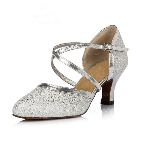 s sparkling glitter heels pumps modern shoes