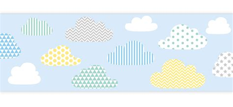 bordure kinderzimmer wolken dinki balloon kinder bord 252 re patchwork wolken pastellmix