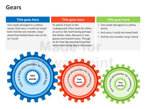 how to create gear diagrams in powerpoint using shapes gear diagrams editable ppt graphics