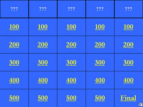jeopardy printable template jeopardy template 36 free word excel ppt pdf format