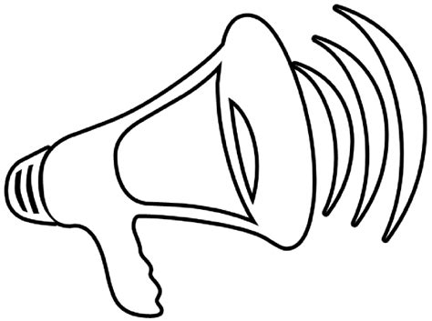 coloring pages of megaphones clipart best