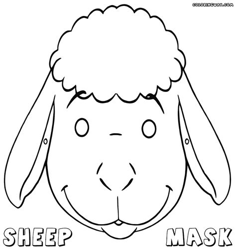 printable sheep mask template sheep mask template sheep