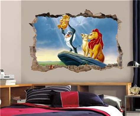 lion king home decor lion king simba smashed wall decal graphic wall sticker