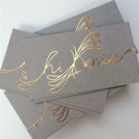 Visitenkarten Rosegold by Best 25 Foil Business Cards Ideas On