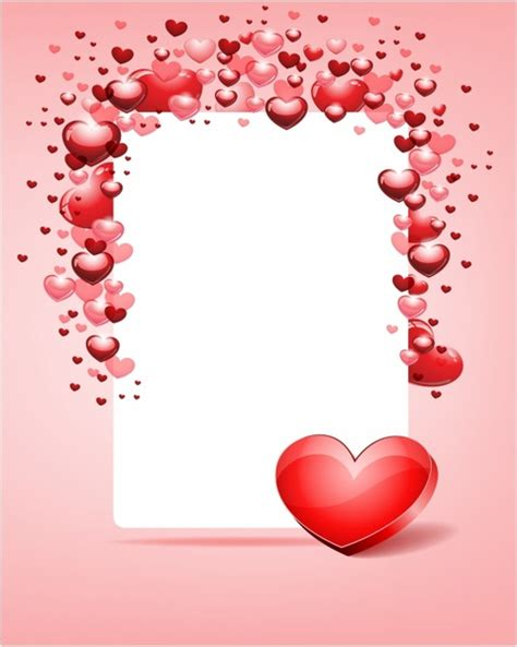valentines frames with card frame day free vector in adobe