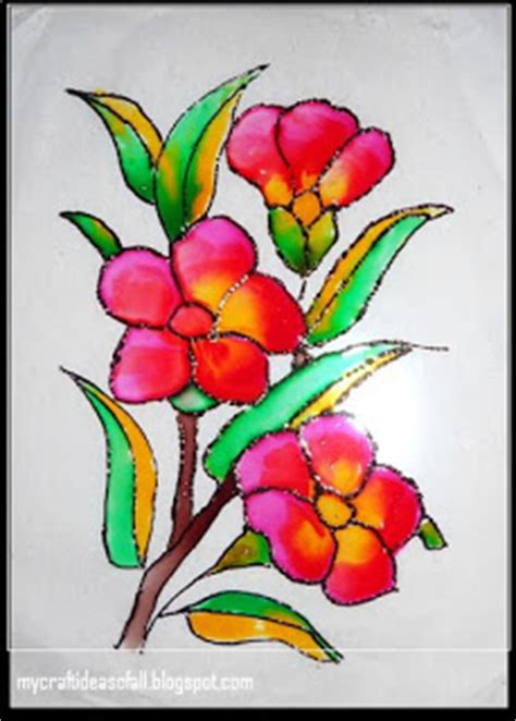glass design flower evolution mycraftideasofall glass painting
