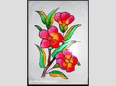MYCRAFTIDEASOFALL..: GLASS PAINTING Easy Flower Designs For Glass Painting