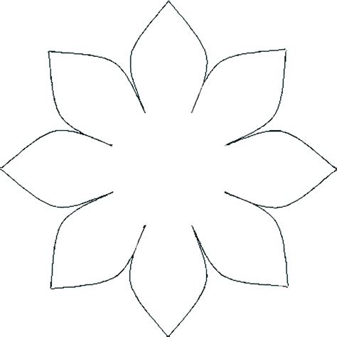 template of flowers template of a flower cliparts co