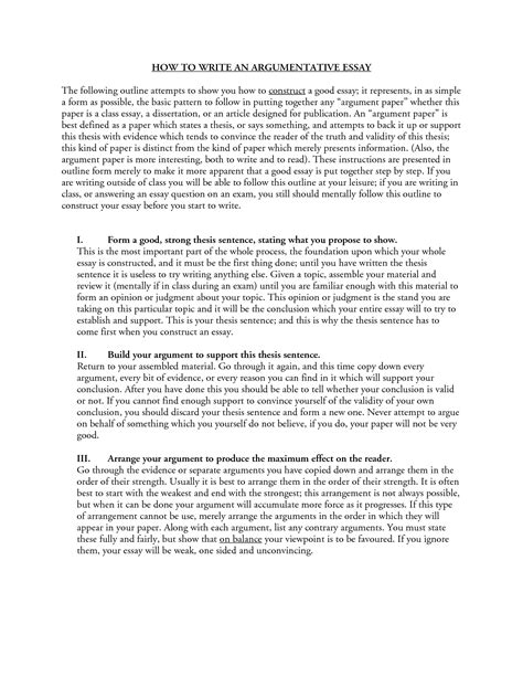 sle outline for argumentative essay how to write a argumentative thesis 28 images outline