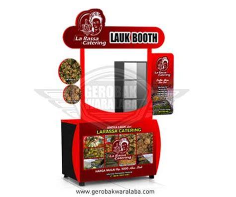 desain gerobak frenchise booth portable unik la rassa catering bali gerobak