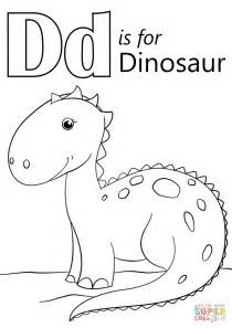 Letter D Is For Dinosaur Coloring Page Free Printable Letter D Coloring Pages