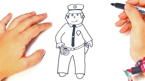 How To Draw A Policeman In