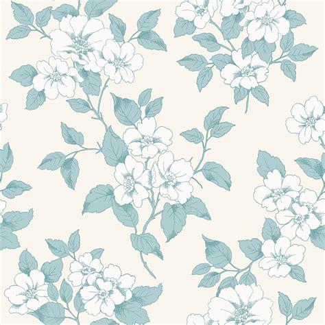 flower motif pattern by yukiko kuro teal wallpaper floral www pixshark com images